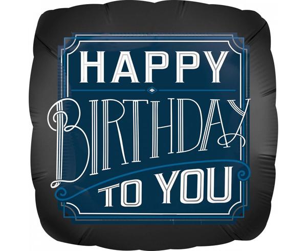 Μπαλόνι foil Happy birthday τετράγωνο