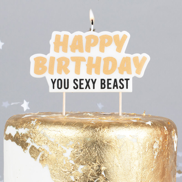 Picture of Happy birthday you sexy beast Cake Candle