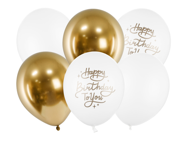 Picture of Set balloons - Happy birthday to you (6 pcs)