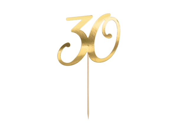 Picture of Cake topper in gold paper - 30