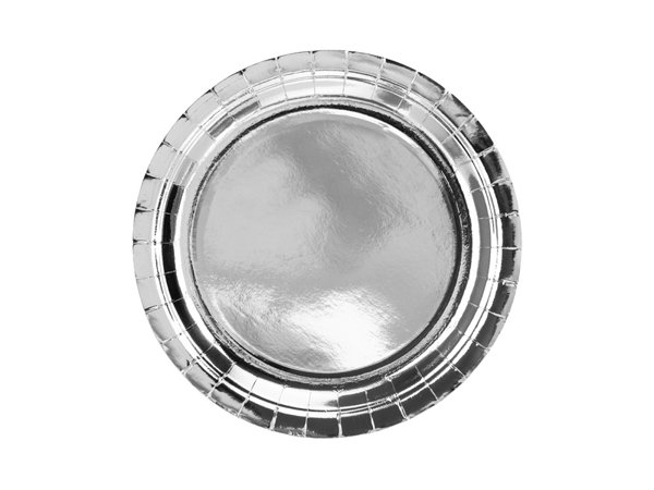 Picture of Dinner paper plates - Silver