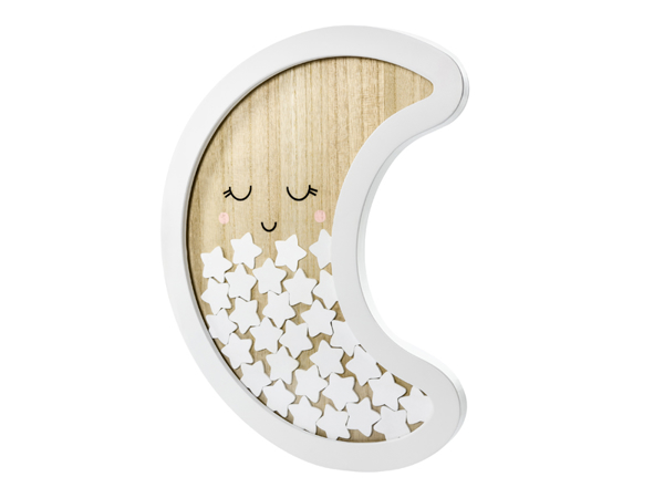 Picture of Wooden guest book - Moon
