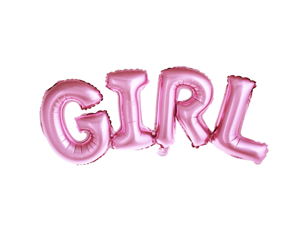 Picture of Foil Balloon GIRL pink