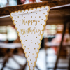 Picture of Paper flag garland - Happy birthday
