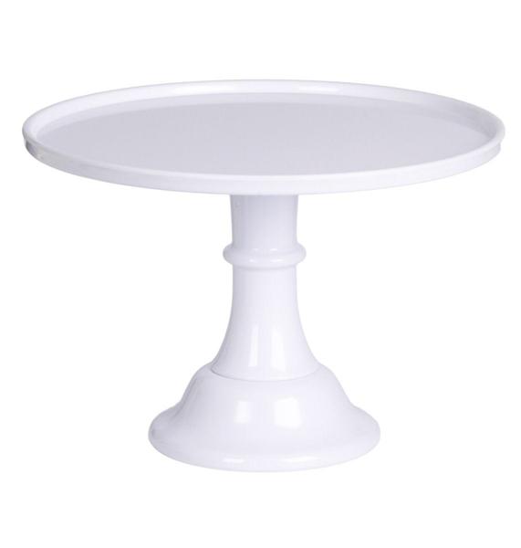 Βάση για τούρτα από μελαμίνη - Λευκή (L)