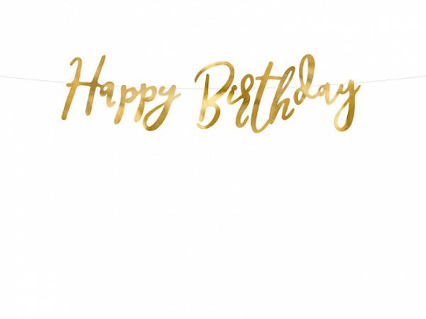 Γιρλάντα Happy Birthday χρυσή