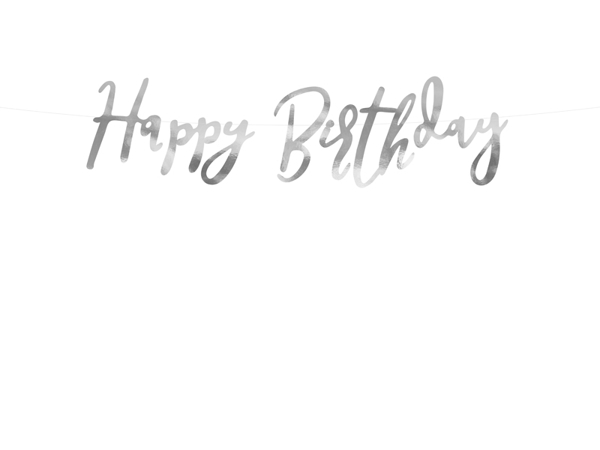 Picture of Banner happy birthday silver 64cm