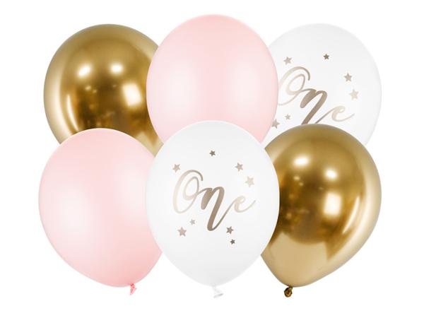 Σετ μπαλόνια - One Ροζ  (6τμχ)