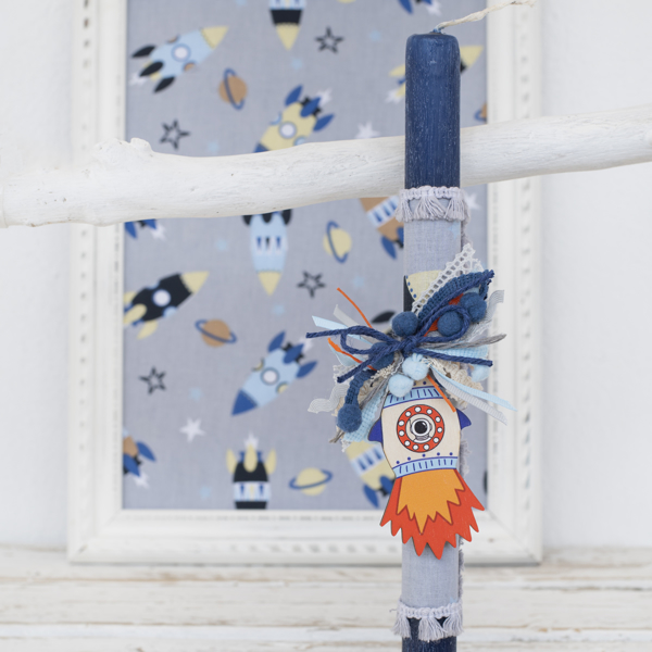 Picture of Easter candle - Rocket
