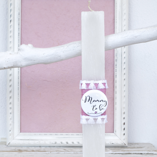 Picture of Easter candle - Mommy to be