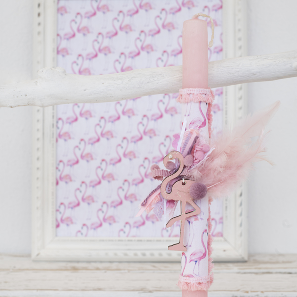 Picture of Easter candle - Flamingo