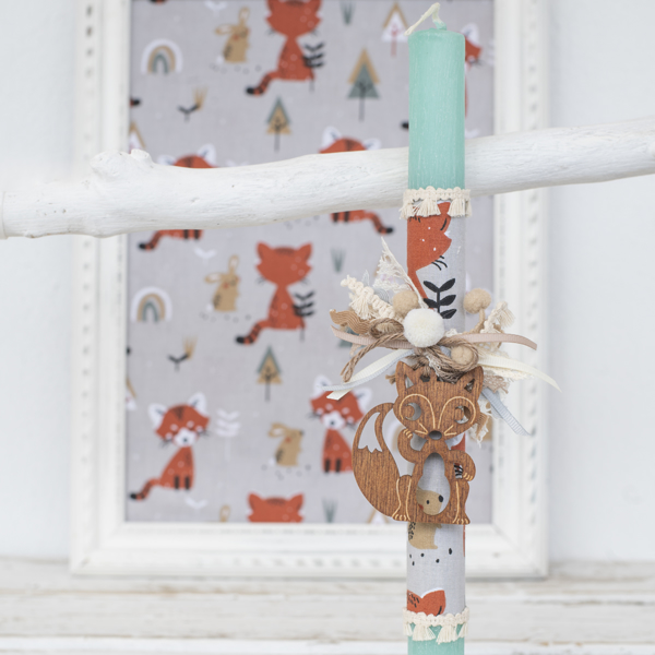 Picture of Easter candle - Fox