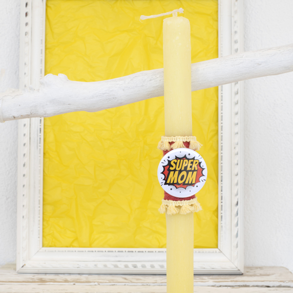 Picture of Easter candle - Super Mom