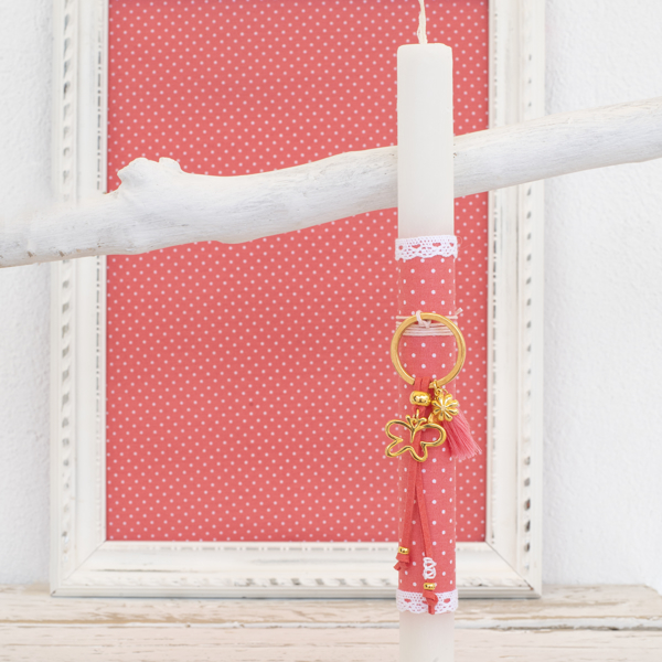 Picture of Easter candle - Gold butterfly
