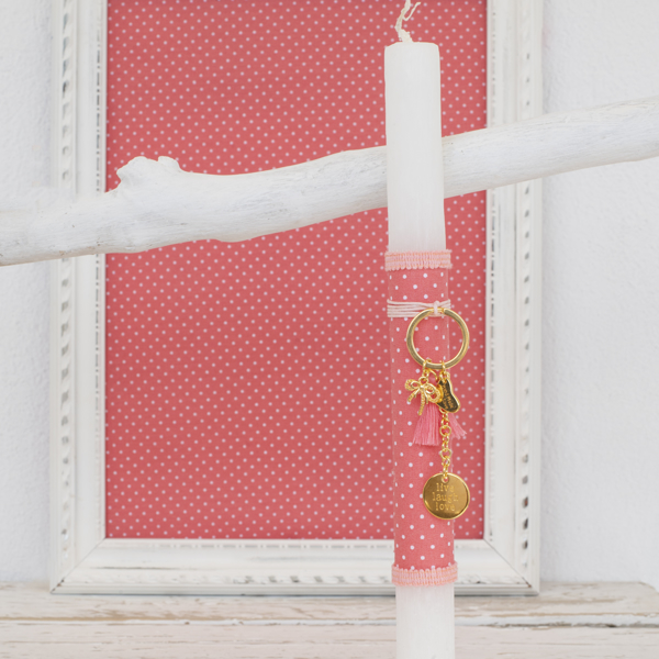 Picture of Easter candle - Gold live laugh love