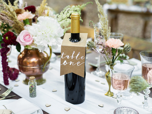 Picture of Bottles Hangers - Table numbers (1-10)