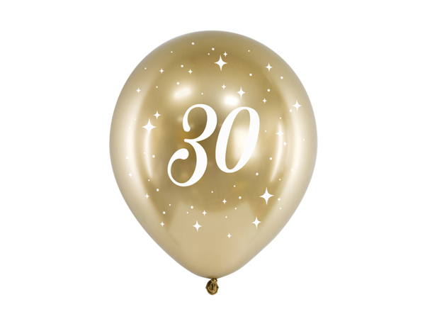Picture of Balloons glossy gold - 30 (6pcs)
