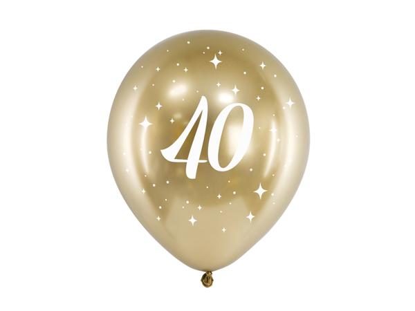 Σετ μπαλόνια χρυσό glossy - 40 (6τμχ)