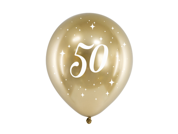 Picture of Balloons glossy gold - 50 (6pcs)