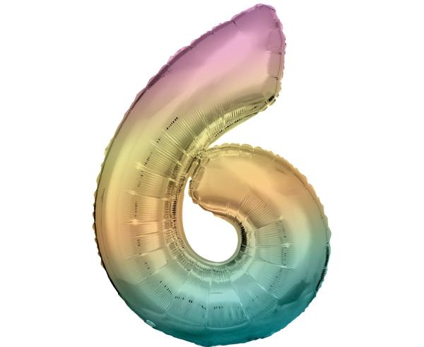 Μπαλόνι Αριθμός 6 Rainbow 86cm