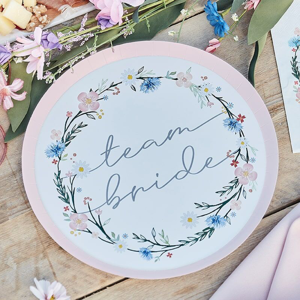 Picture of Paper plates - Boho team bride
