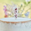 Picture of Pressed petal  number 1 birthday cake candle