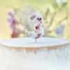 Picture of Pressed petal  number 3 birthday cake candle