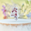 Picture of Pressed petal  number 4 birthday cake candle