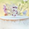 Κερί αριθμός 5 λευκό με πέταλα από άνθη