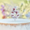 Picture of Pressed petal  number 6 birthday cake candle