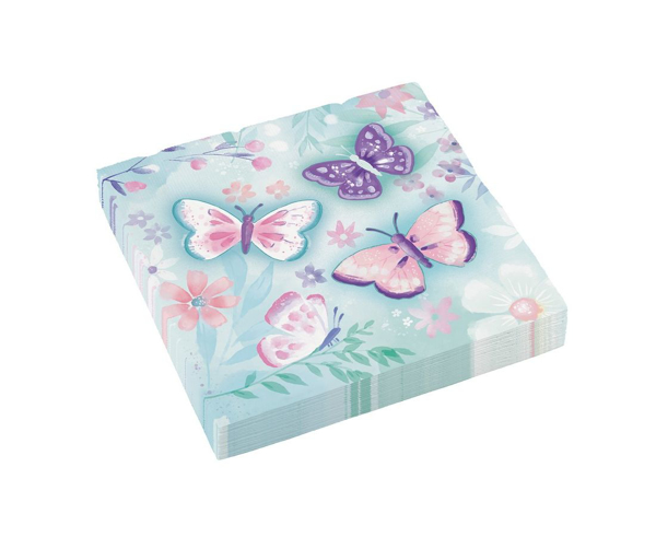 Picture of Paper napkins - Pastel butterflies