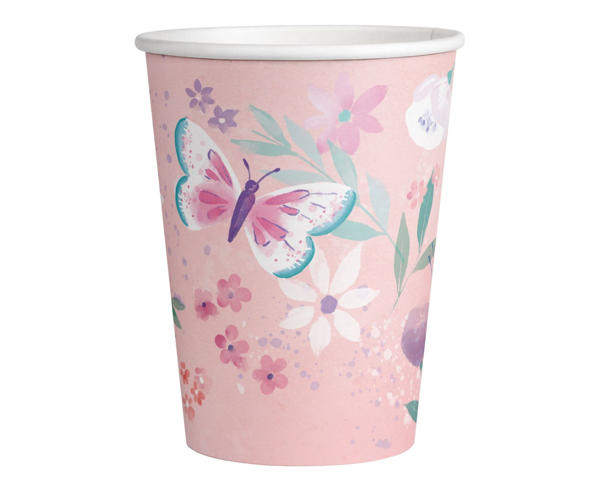 Picture of Paper cups - Pastel butterflies