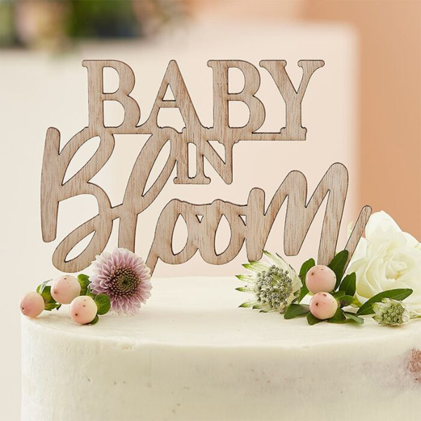 Picture of Wooden cake topper Baby in bloom