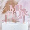 Διακοσμητικό τούρτας - Mr&Mrs ροζ χρυσό
