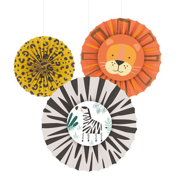 Picture of Tissue Fan Decorations get wild (set 3)