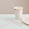 Γυάλινα καλαμάκια ροζ ανοιχτό (4τμχ)