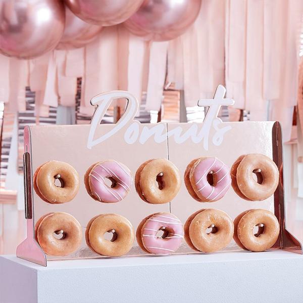 Πίνακας για Donuts σε ροζ χρυσό