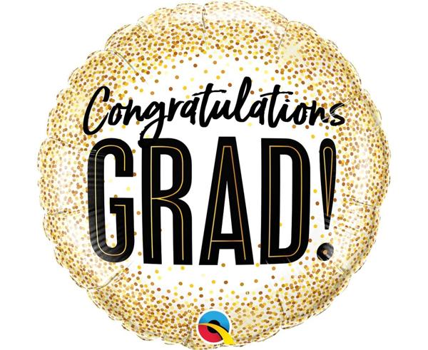 Picture of Graduation foil balloon - Congratulations Grad!