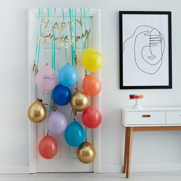 Picture of Balloon Door Kit - Bright Happy Birthday