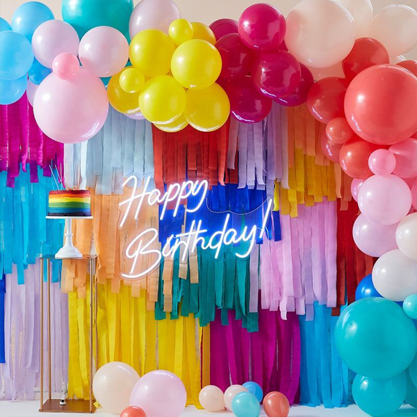 Picture of Party Backdrop with balloons and streamers