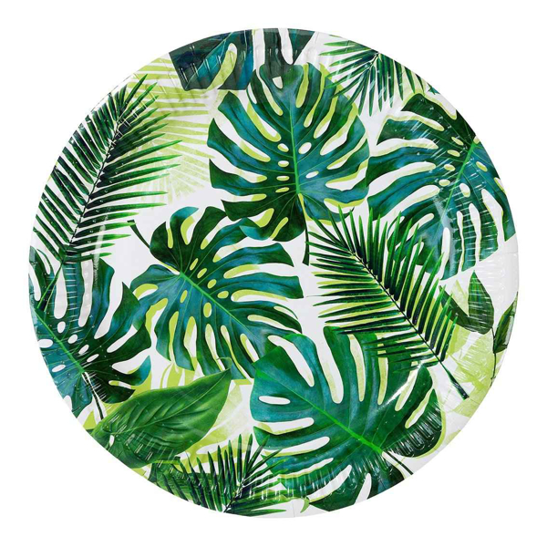 Picture of Dinner paper plates - Tropical