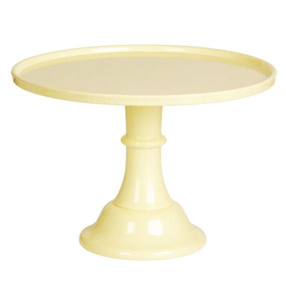 Βάση για τούρτα από μελαμίνη - Κίτρινη (L)