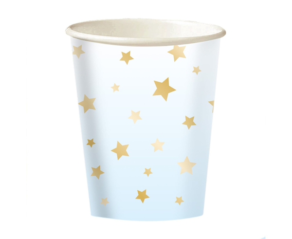Picture of Paper cups - Οmbre blue with gold stars