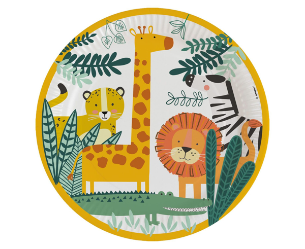 Picture of Dinner paper plates - Get wild