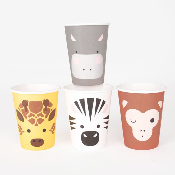 Picture of Paper cups - Jungle animals