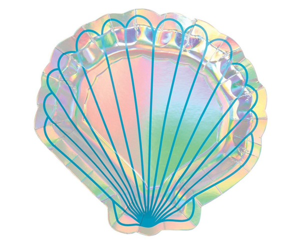 Picture of Paper Plates (20cm) - Seashell