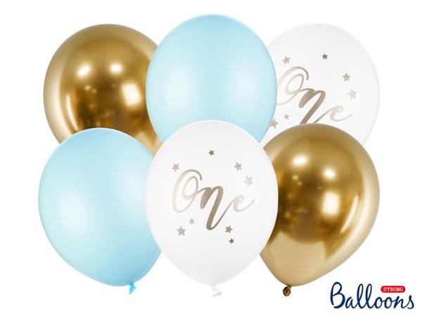 Σετ μπαλόνια - One Γαλάζιο (6τμχ)