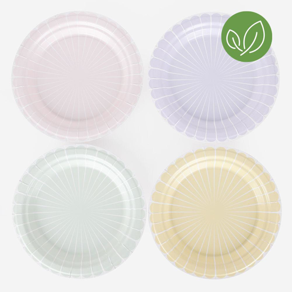 Picture of Dinner paper plates - Pastel