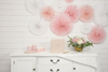 Picture of Powder pink Tissue Fan Decorations (set 3)