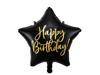 Picture of Foil balloon star - Black  happy birthday